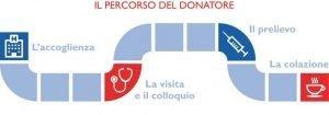 Il percorso del donatore di sangue