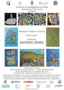 Mostra di pittura e scultura di Antonio Senes a Campagnano
