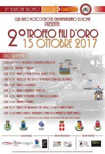 """Locandina del secondo trofeo di auto storiche """"Fili d'Oro"""" a Campgnano"""