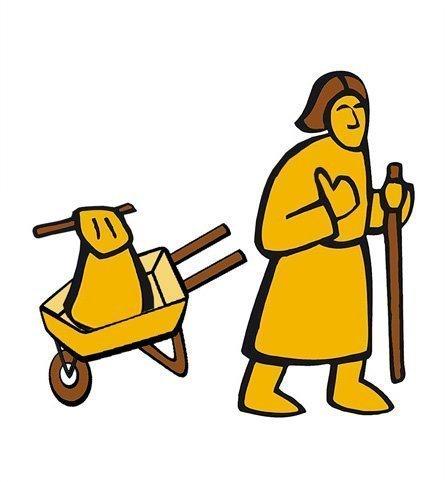 Simbolo del pellegrino lungo la via Francigena