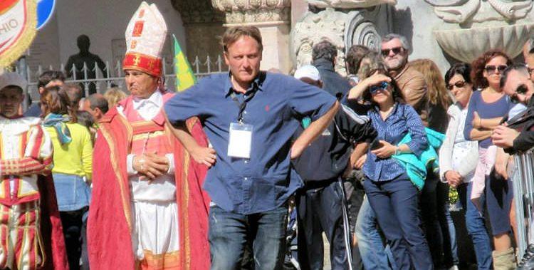 Oreste Pallucchini, Presidente della proloco di Campagnano, nel corso della Festa del Baccanale