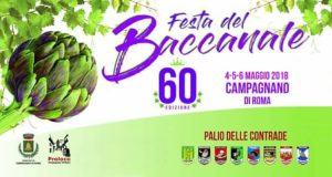 Locandina della Festa del Baccanale 2018 a Campagnano di Roma