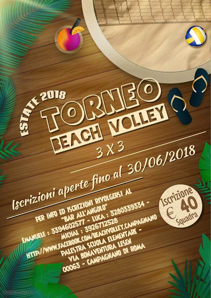 Locandina torneo di Beach Volley a Campagnano