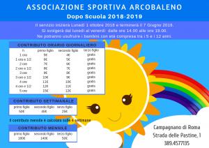 Dopo scuola organizzato da ASD Arcobaleno a Campagnano di Roma