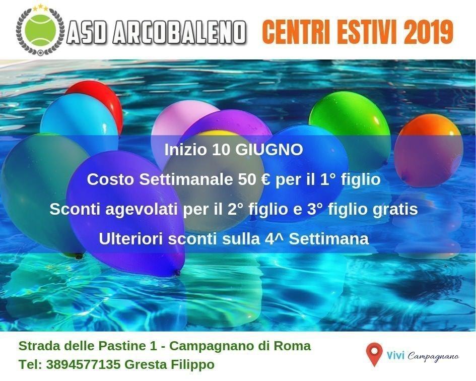 Centri Estivi 2019 del TC Arcobaleno a a Campagnano di Roma