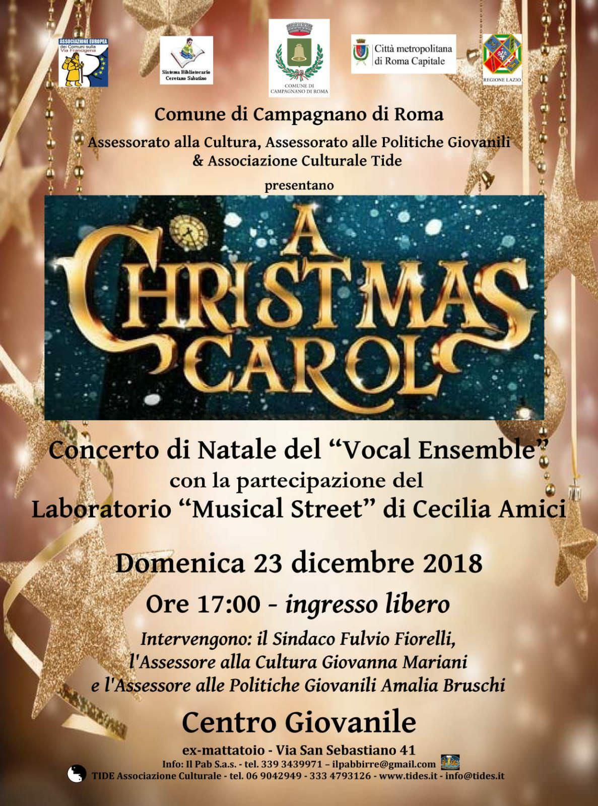 Locandina del Concerto di Natale del Vocal Ensemble di Cecilia Amici
