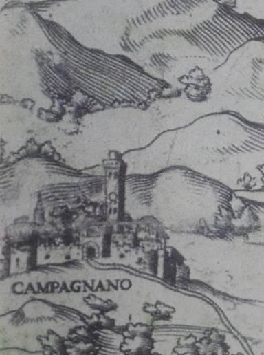 Il castello a Campagnano di Roma