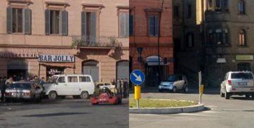 """Un confronto tra la Campagnano del 1984 nel film """"Delitto in Formula Uno"""", e quella attuale"""