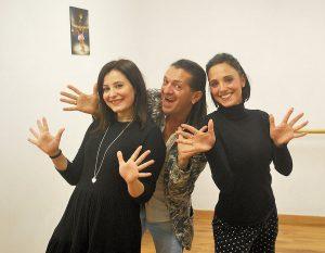 Chiara Trivelloni, Manuel Frattini e Sasha Casini alla scuola di danza Dancing Time di Campagnano di Roma