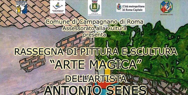 Mostra di pittura e scultura di Antonio Senes a Campagnano di Roma, luglio 2019