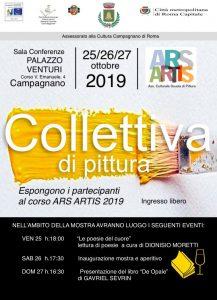 Locandina mostra di pittura ottobre 2019 a Campagnano