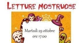 """29 ottobre 2019 – Letture """"mostruose"""" per bambini"""