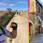 Andrea Devicenzi, l'atleta paralimpico che percorre la Via Francigena arriva a Campagnano