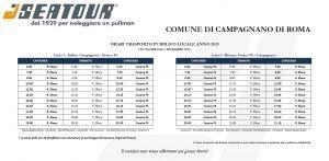 Orari navetta Campagnano - Cesano gestita da Seatour