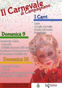 Locandina del Carnevale 2020 a Campagnano di Roma
