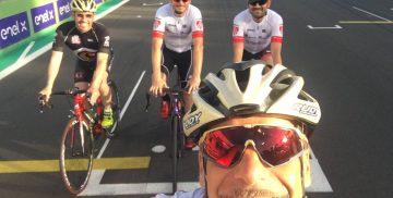 Emiliano Cantagallo e Giancarlo Fisichella al Roma Bike Park di Vallelunga a Campagnano