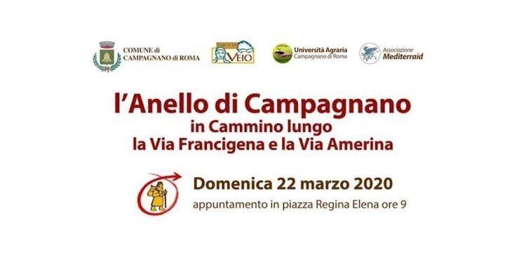 Camminata lungo l'anello della Via Francigena che passa per Campagnano di domenica 22 marzo 2020