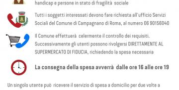 Servizio di consegna spesa a domicilio per anziani e persone disabili a Campagnano di Roma