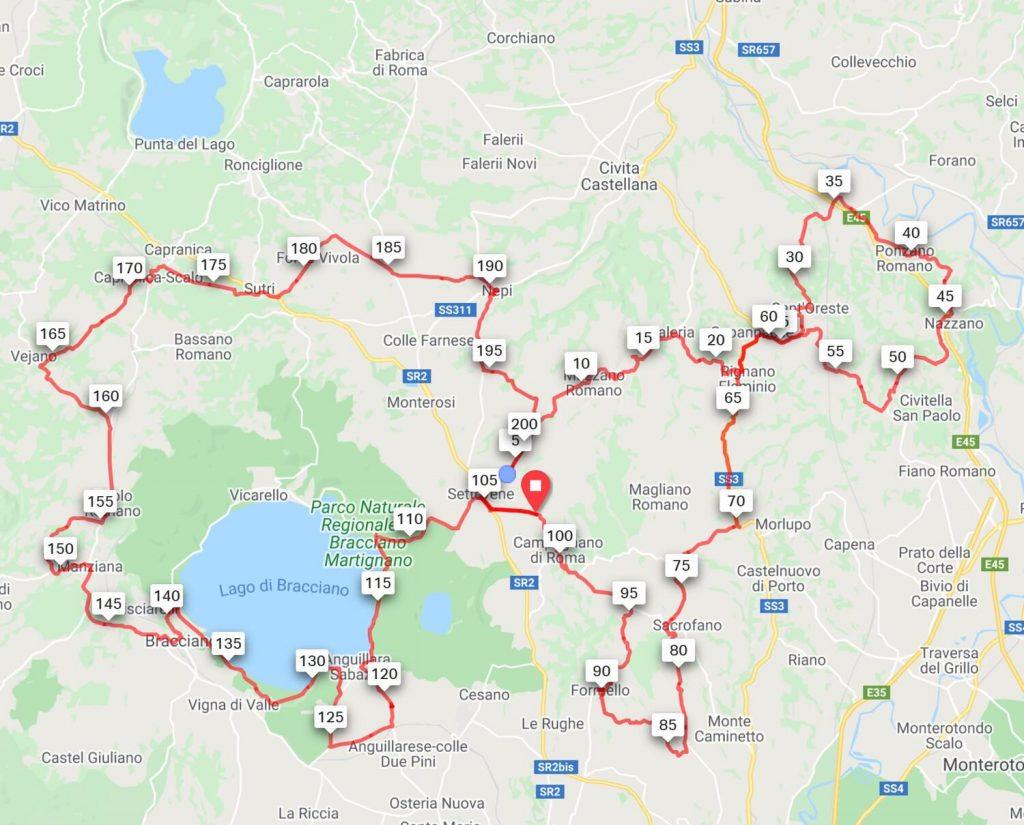 Percorso Roma Randonnee 2020