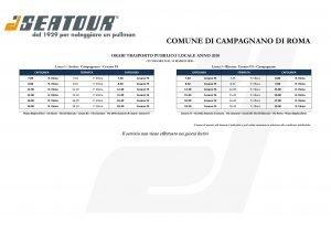 Orari navetta Campagnano-Cesano in vigore da marzo 2020