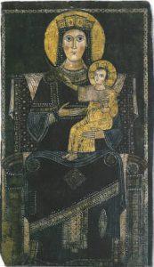 Dipinto della Madonna con Bambino conservato a Campagnano di Roma