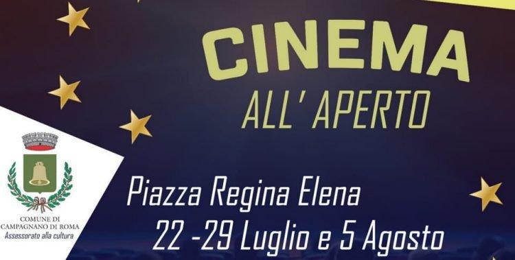 Locandina del Cinema sotto le stelle 2020 a Campagnano di Roma