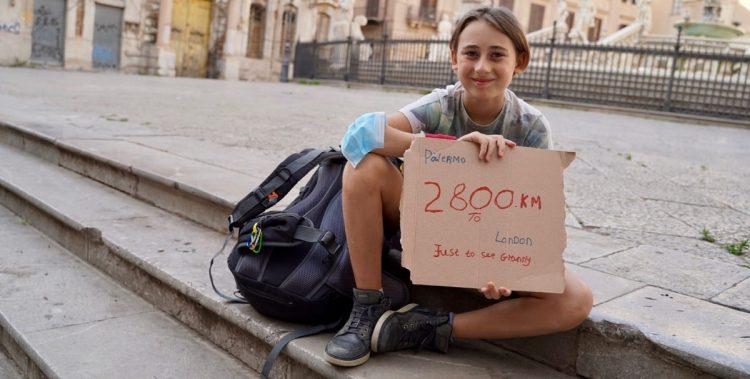 Romeo in viaggio dalla Sicilia a Londra