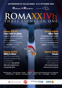 locandina Roma XXIVh Bike - endurance in bici presso Autodromo di Vallelunga